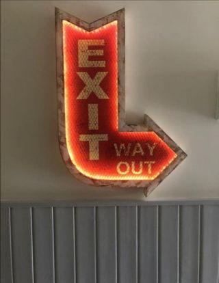 Cartel EXIT luminoso