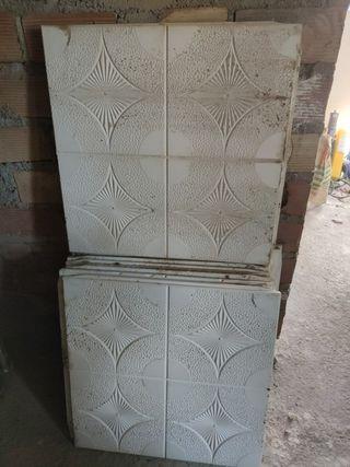placas de escayola con dibujo antiguas
