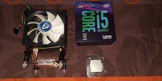 Procesador Intel i5 8600k con refrigeración