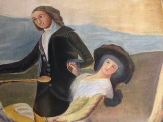 Pintura antigua sobre tela.