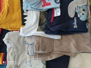 lote camisetas manga larga y pantalones largos