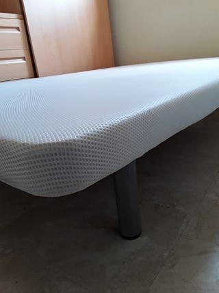 BASE TAPIZADA 3D Blanco 135X190cm