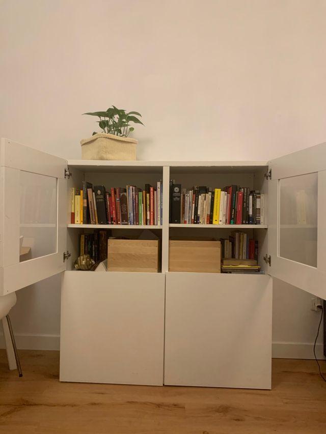 Vitrina mueble IKEA Bestå madera blanca