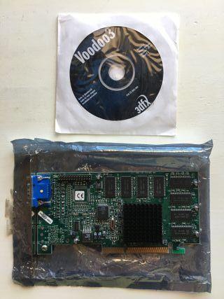 Tarjeta Gráfica 3Dfx Voodoo 3 2000 AGP PC Vintage