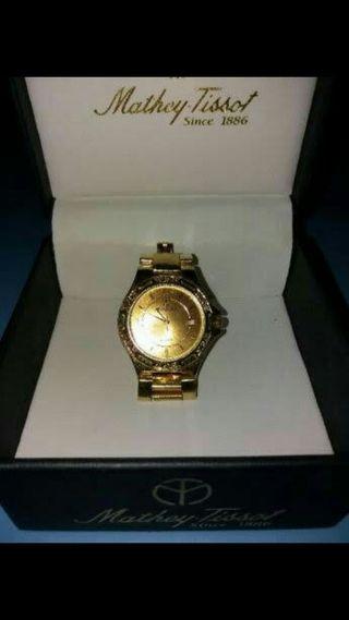 reloj oro 18k diamantes caballero de vestir
