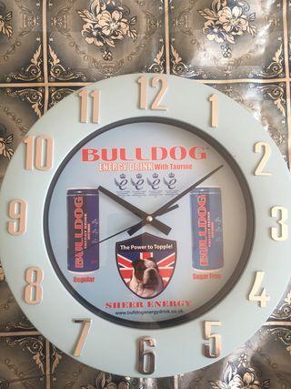 Wall clock bull dog.. brand new..
