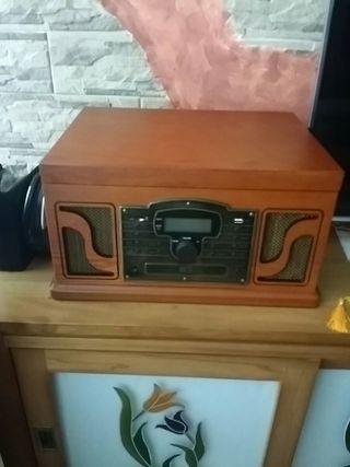 tocadiscos vintage.