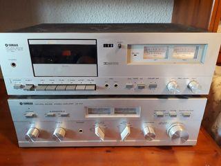 Amplificador y pletina Yamaha