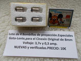 4 Bombillas para el Cinexin 3,7v Gota Lente