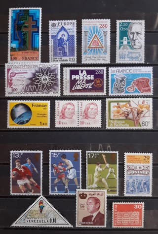 2 Lotes de sellos nuevos extranjeros. Buen estado.