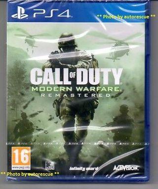 Call of Duty Modern Warfare Remastered precintado