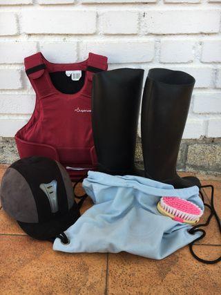 Pack de equipamiento de equitación