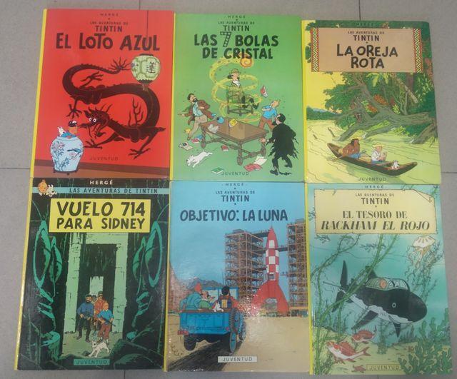 "lote de comics ""LAS AVENTURAS DE TINTIN"" tapa dura"