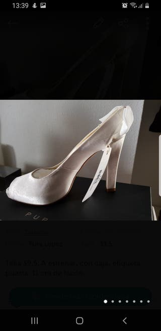 Zapatos novia a estrenar con etiqueta y caja 39.5