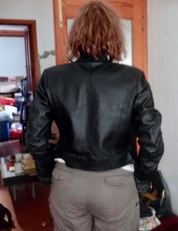 Chaqueta cuero mujer talla M