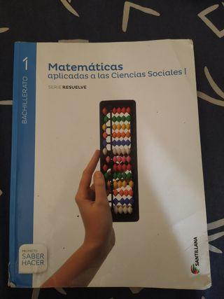 Libro 1 bac Matemáticas aplicadas as CCSS.