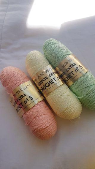 Algodón puro mercerizado (Crochet n° 5)