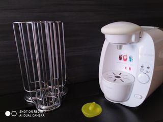 cafetera tassimo con dispensador giratorio