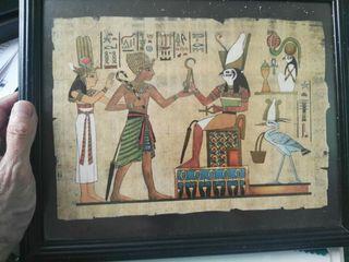 cuadro papyro. egipcio