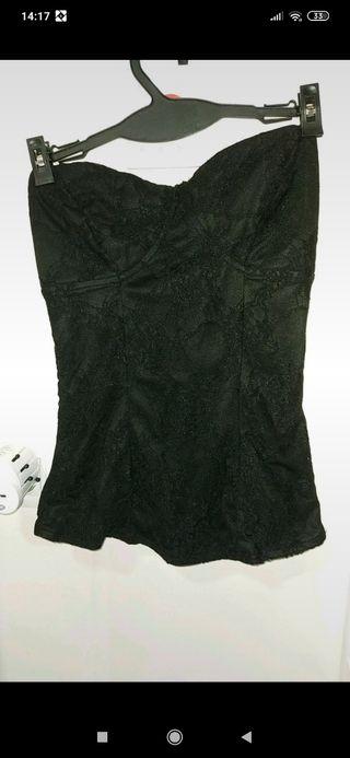 blusa negra, Inside, talla S.