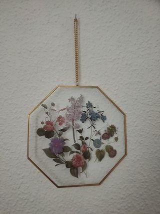 Decoración flores para colgar