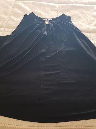 blusa holgadita negra talla M