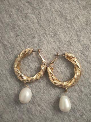 Pendientes Perlas de Zara