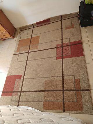 alfombra beige rojo naranja marrón