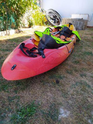 kayak ocean duo con chalecos homologados