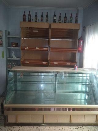 Mostrador y estanterías panadería
