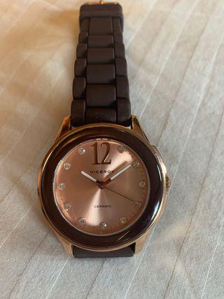 Reloj Viceroy marrón y en oro rosa