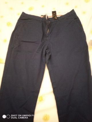 pantalón chino chica azul marino