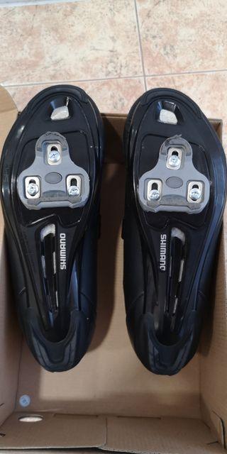 zapatillas Shimano RP1 + calas Look grises 4'5°