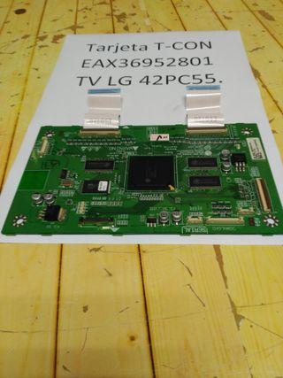 Vendo Tarjeta T-CON TV LG 42PC555