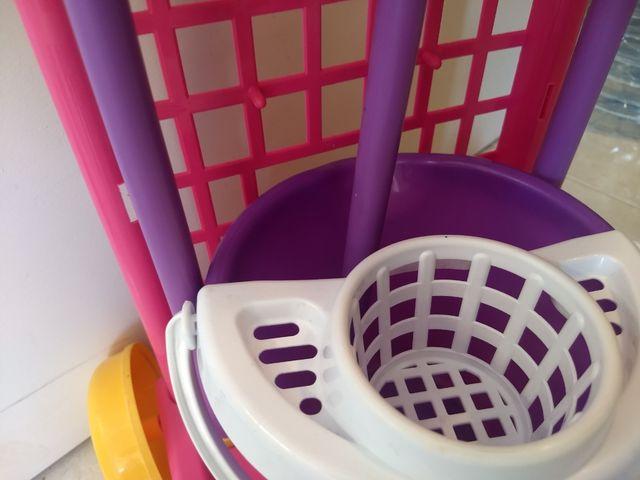 Carro limpieza juguete, fregona,escoba y recogedor