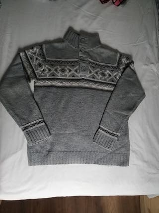 Jersey gris Pull & Bear hombre
