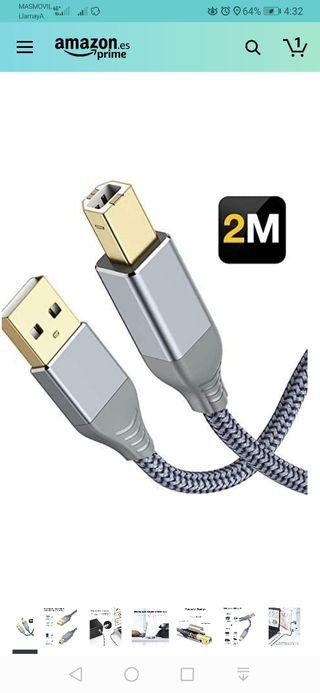 Cable Impresora USB 2.0, Snowkids Cable USB Impres
