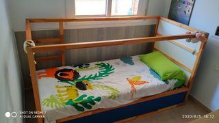 cama kura Ikea + colchón