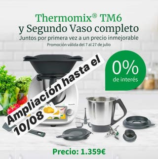 Tm6 thermomix con 2 vasos