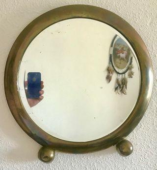 Espejo de joyería vintage