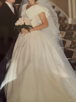 traje de novia seda salvaje