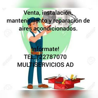 Reparación e instalación de aire acondicionado