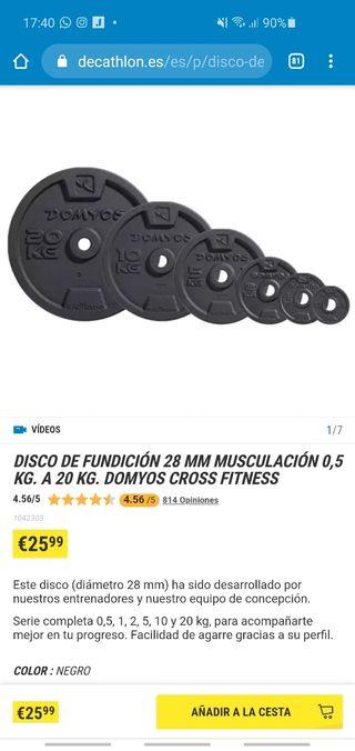 Discos Pesas Banco Barra