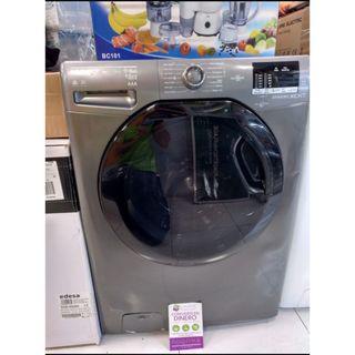 lavadora secadora gris y negra