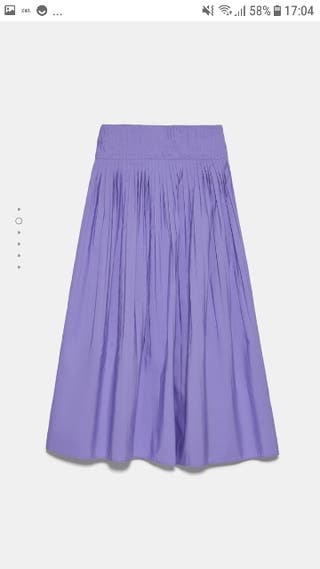 Falda plisada morada