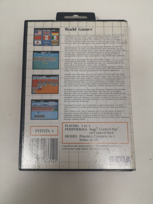World games para Sega Master System