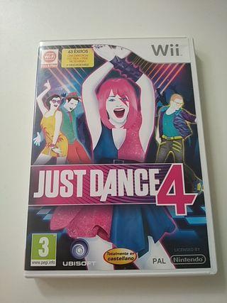 juego para la wii just dance 4