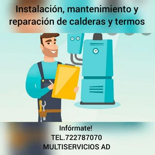 Reparación y mantenimiento de caldera y termo