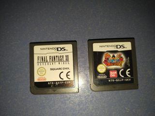 Pack juegos Nintendo DS sin caja