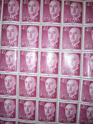 sellos 40 pesetas